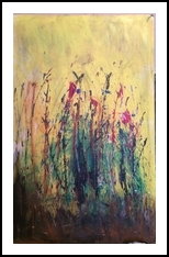 Day Dreaming, Paintings, Abstract, Botanical,Floral,Landscape, Acrylic,Canvas, By Kenneth E Parker