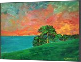 Day's End, Maui, Hawaii, Paintings, Fine Art,Impressionism,Realism, Landscape,Seascape,Tropical, Acrylic,Canvas, By David John Edwards