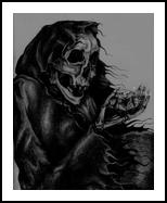 Death Diamond, Drawings / Sketch,Illustration, Fine Art,Realism, Fantasy,Grotesque, Pencil, By Rebecca Suzanne Magar