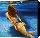 Deep blue, Paintings, Photorealism, Nudes, Canvas, By Anna Rita Rita Angiolelli