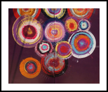 Deep purple circles A104 Abstract Painting vertical wall art Acrylic Original Contemporary Art for Lounge, Office or above sofa by artist Ksavera, Decorative Arts,Multipanel Art,Paintings, Abstract,Commercial Design,Expressionism,Minimalism,Modernism, Composition,Decorative, Acrylic,Canvas, By Ksavera Art