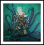 Deep Sea Diver, Paintings, Fine Art,Hallucinogens,Surrealism, Fantasy,Happenings,Seascape, Canvas,Painting, By Robert Douglas Given
