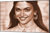 Deepika Padukone portrait of the face, Illustration, Paintings, Dadaism, Existentialism, Expressionism, Impressionism, Photorealism, Realism, Anatomy, Portrait, Mixed, Oil, Pencil, By Stefan Pabst