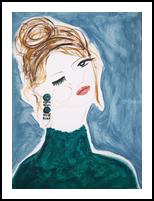 Diane, Paintings, Abstract,Impressionism,Minimalism,Modernism,Primitive, Portrait, Acrylic, By Lianne Kocks