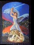 Dies Irae(acrylic on cartdboard), Paintings, Fine Art, Fantasy, Acrylic, By Victoria Trok