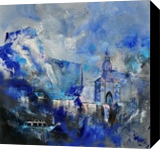 dinant 8841, Paintings, Expressionism, Landscape, Canvas, By Pol Henry Ledent