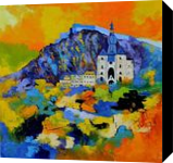 Dinant city Belgium, Paintings, Expressionism, Landscape, Oil, By Pol Henry Ledent