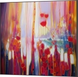 Distant Memory - a semi abstract landscape, Paintings, Fine Art, Landscape, Canvas,Oil,Painting, By Gill Bustamante