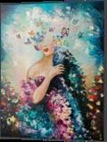 Dreams, Paintings, Surrealism, Decorative,Fantasy,Figurative,People, Canvas,Oil, By Lyubov Kuptsova