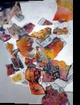 DREAMS, Collage, Abstract, Decorative, Acrylic,Canvas,Mixed, By Maria Hristova Koleva