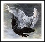 Duality, Illustration,Paintings, Fine Art,Realism,Symbolism, Animals,Fantasy,Inspirational,Nature,Religious,Spiritual,Wildlife, Acrylic, By Rebecca Suzanne Magar
