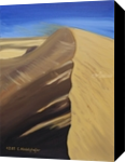 Dune of sand playing with the wind, Paintings, Fine Art, Landscape, Canvas,Oil,Painting, By Claudia Luethi alias Abdelghafar