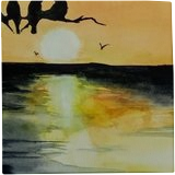 Early Birds, Paintings, Abstract, Animals, Watercolor, By james Allen lagasse