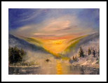 Early Dawn, Paintings, Impressionism, Landscape, Canvas, By Valeriy Politov