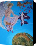 Ecstasy of Saint Teresa in Glamour style(acrylic on canvas), Paintings, Fine Art, Fantasy, Acrylic, By Victoria Trok