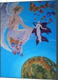 Ecstasy of Saint Teresa in Glamour style(acrylic on canvas), Paintings, Fine Art, Fantasy, Acrylic, By Victoria Trok