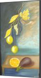 Eggplant Limes Grapes, Paintings, Impressionism,Realism, Still Life, Canvas,Oil, By Mike Chaple