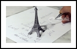 eiffel tower 3D Drawing, Architecture, Fine Art, 3-D, Mixed, By Stefan Pabst