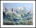 El Grande, Paintings, Fine Art, Landscape, Watercolor, By E Gordon West