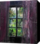 El Visillo Rosa., Decorative Arts,Paintings, Fine Art,Impressionism,Realism,Romanticism, Analytical art,Land Art,Window on the World, Canvas,Oil,Painting, By Jose Luis Castrillo