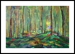 Elephant Forest, Collage, Fine Art, Landscape, Mixed, By Gayle Gerson