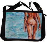 Emerald blue, Paintings, Commercial Design,Fine Art,Modernism,Realism, Nudes,People,Seascape, Acrylic, By Anna Sidi Yacoub