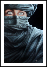 Emerald eyes, Paintings, Fine Art,Modernism,Photorealism,Realism, Documentary,Figurative,Multicultural / Ethnic,People,Portrait, Oil, By Ivan Pili