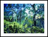 Enchanted Forest, Paintings, Surrealism, Landscape, Acrylic,Canvas, By Victor Ovsyannikov