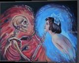 Eternal Love(acrylic on canvas), Paintings, Fine Art, Fantasy, Acrylic, By Victoria Trok