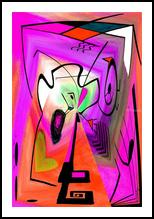 Eveil III, Digital Art / Computer Art,Paintings, Abstract, Avant-Garde, Acrylic,Digital, By Sévi Cabell Maghee
