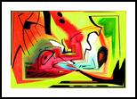 Eveil IV, Digital Art / Computer Art,Paintings, Abstract,Cubism, Avant-Garde, Acrylic,Digital, By Sévi Cabell Maghee