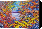 Evening Breeze, Ottawa River, Paintings, Impressionism, Landscape, Oil, By Margaret Chwialkowska