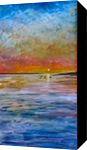 Evening Sun, Paintings, Fine Art,Impressionism,Realism, Seascape, Acrylic,Painting, By Matthew David Evans