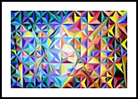 Explosion (geometric#2), Paintings, Abstract, Conceptual, Acrylic, By Lucyanne Driusi Terni