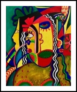 Expressions, Paintings, Abstract,Chance, Composition, Acrylic, By Veena Sharma