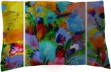 """EXTRA LARGE Triptych """"Flowers"""", Paintings, Abstract, Botanical,Fantasy,Floral,Landscape,Nature, Acrylic,Canvas, By Irini Karpikioti"""
