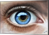 Eye 3D in Color, Drawings / Sketch, Expressionism,Realism, 3-D,Anatomy,People,Portrait, Oil, By Stefan Pabst
