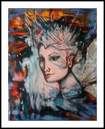 FAERIE QUEEN, Paintings, Fine Art,Romanticism, Fantasy,People,Portrait, Mixed, By Susan Adele Kemp Maldonado