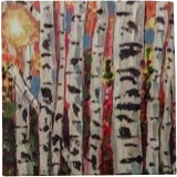 Fall of the Birch, Paintings, Abstract, Conceptual,Landscape, Acrylic, By Lisa Annette Bowersock
