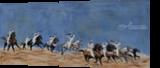 Fantasia race in the desert, Paintings, Fine Art, Animals, Oil,Painting, By Claudia Luethi alias Abdelghafar