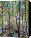Fantasy Forest, Collage, Fine Art, Landscape, Mixed, By Gayle Gerson