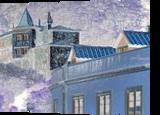 Faraway snow village, Digital Art / Computer Art, Romanticism, Environmental art, Digital, By Bernard Harold Curgenven