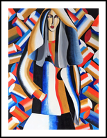 Fashion Lady, Paintings, Abstract, Figurative, Acrylic, By Lucyanne Driusi Terni