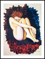 Feelings #1, Paintings, Modernism, Nudes, Acrylic, By Lucyanne Driusi Terni