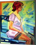 Femme Fatale, Paintings, Modernism, Erotic,Figurative, Canvas,Mixed,Oil,Wood, By Piotr Ryszard Kachny