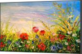 Field and flowers, Paintings, Impressionism, Botanical,Floral,Landscape, Canvas,Oil,Painting, By Olha   Vyacheslavovna Darchuk