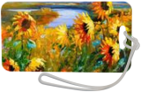 Field sunflowers by the river, Paintings, Impressionism, Botanical,Landscape,Wildlife, Canvas,Oil,Painting, By Olha   Vyacheslavovna Darchuk