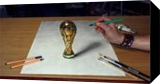 FIFA World Cup 3D Drawing/ football 2018, Paintings, Realism, 3-D,Figurative, Oil, By Stefan Pabst