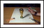 FIFA World Cup 3D Drawing/ football 2018, Paintings, Realism, 3-D, Figurative, Oil, By Stefan Pabst