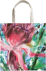 FIND YOUR FLOW - FUCHSIA ABSTRACT, Paintings, Abstract,Modernism, Avant-Garde,Botanical,Floral,Nature,Still Life, Acrylic,Gouache,Watercolor, By HSIN LIN